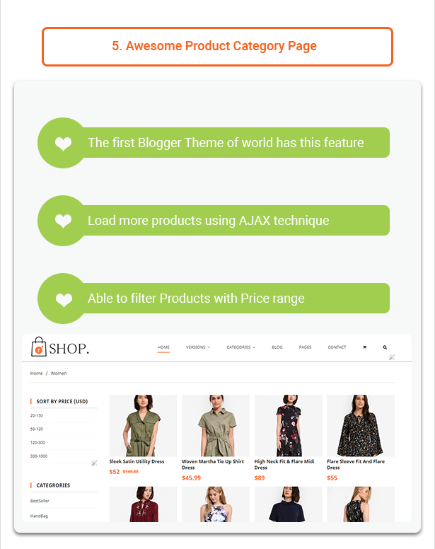 R-shop - Ecommerce Responsive Blogger Template. - 6