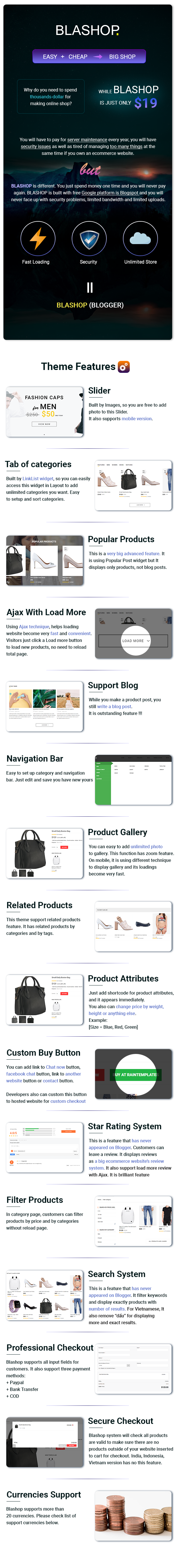 Blashop Ecommerce Blogger Template