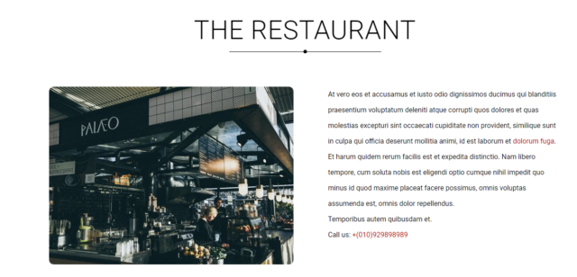 Restaurant Blogspot Theme